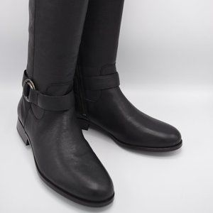 frye & co. Wide Calf Leather Zip Boots Adelaide